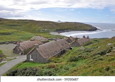 "Old Scottish ""Black House"" village"