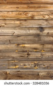 Old Scratched Brown Empty Wood Panel Vertical Texture Background Close-up