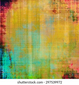 Old scratched retro-style background. With different color patterns: yellow (beige); green; pink; blue