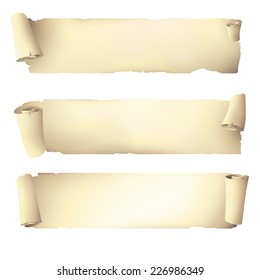 old scroll paper banners