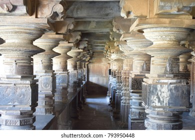 Old Sculpted Pillars