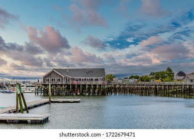 An old Seafood Restaurant on Pier in Rockland, Maine