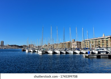Old seaport in Marseille, France.