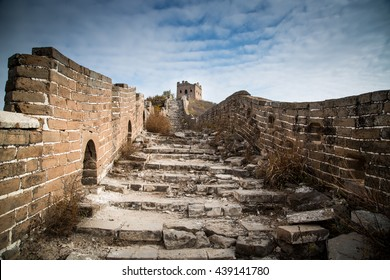 Old section of the Great Wall of China