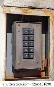 Old security keypad for pin code entrance