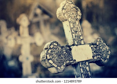 The old sepulchral cross at the cemetery.