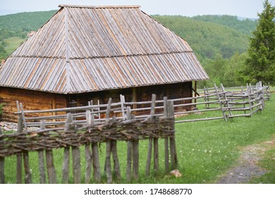 Old Serbian traditional house in Sirogojno Etno Village, Serbia