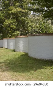 old serpentine wall