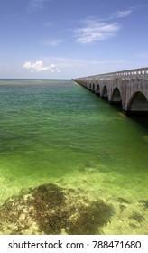 Old Seven Mile Bridge near Key West, Florida Keys, FL.