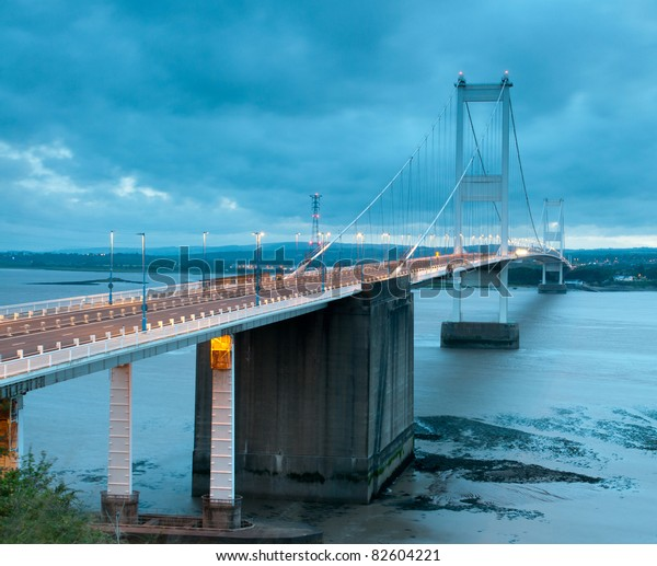 The old Severn Bridge,England