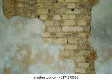 old shabby brick wall
