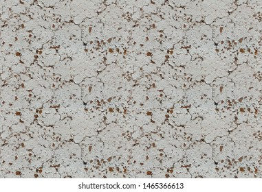 Old shabby white painted texture. Grunge photo seamless pattern