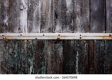 old shabby wooden background from natural board with old paint