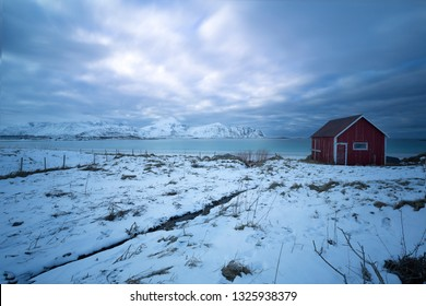 Old shack on the Lofoten islands, Norway, Europe