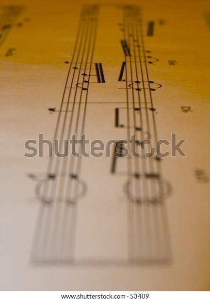 Old sheet music.