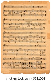 Old sheet music circa 1920.