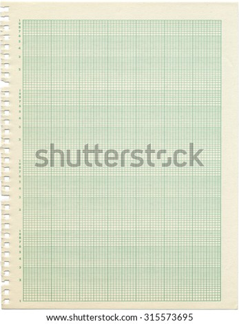 An Old Sheet Of Semi Log Graph Paper Shows Wear And Discoloration
