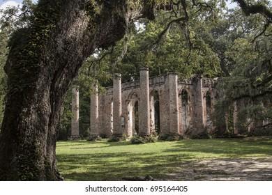 Old Sheldon Chruch Ruins, Yemassee South Carolina