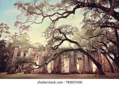 Old Sheldon Church Ruins, Beaufort County, South Carolina