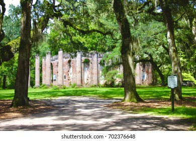 Old Sheldon Church Ruins located in Beaufort, SC.
