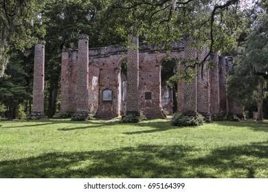 Old Sheldon Church Ruins, Yemassee South Carolina