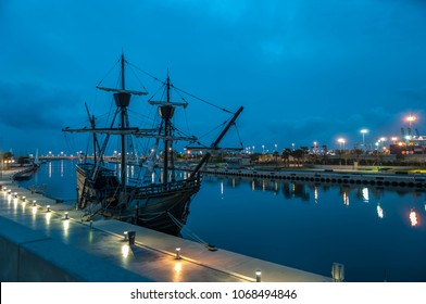 Old ship in the port