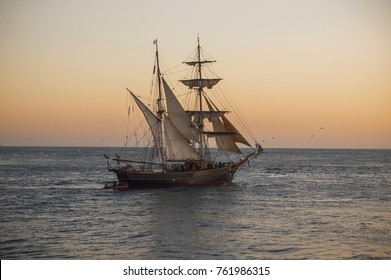 old ship sailing