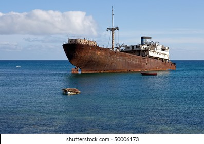 An old ship wreck in Arrecife
