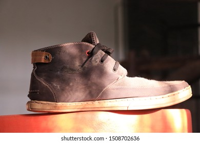 an old shoe after hard using