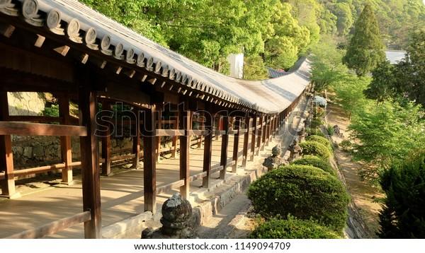 The old shrine in Okayama city, Japan