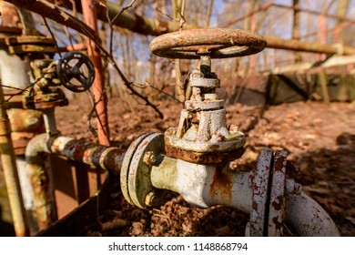 Old shut-off valve of a shut-down system, lost places