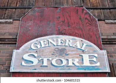 Old sign for a general store