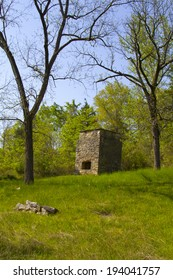Old silver smelter in the ghost town of Rush, Arkansas