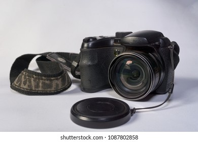old simple and dusty photo camera