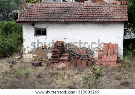 Old Simple House Little Village Greece Stock Photo Edit Now