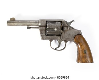 Old six-shooter 38 caliber revolver