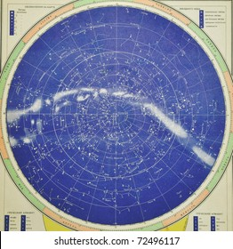 Old sky map (from 1960 year) - note that very small grain isn't digital noise - it is natural grain on old paper