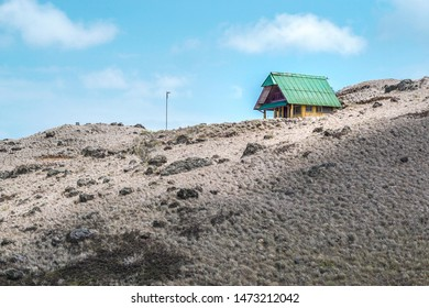 Old small and lonley house in the middle of a mountain