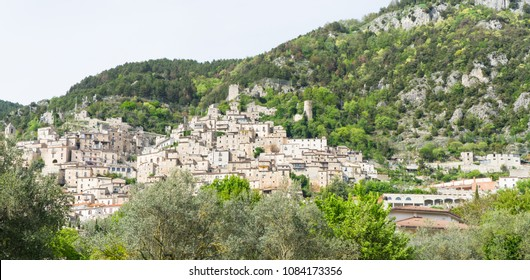 Old small town in the mountains of Italy