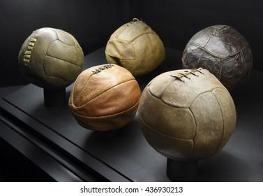 Old soccer balls.