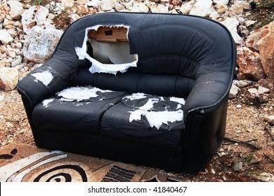 Old sofa.