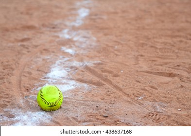 old softball in field
