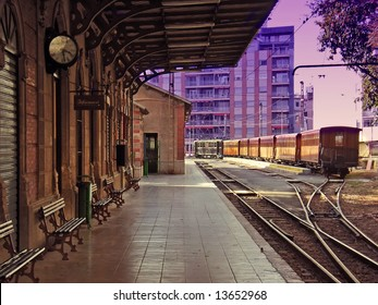 Old Soller Station in the morning (Palma of Majorca - Spain)