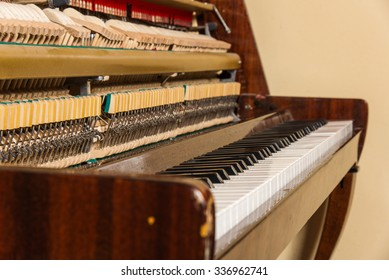old Soviet piano. Music Day