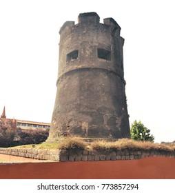 Old spanish tower.  El Torreon Los Canelos o Torreón de Cantarranas in Valdivia, Region de Los Rios, Chile South America