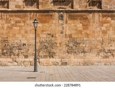 Old spanish wall on the street
