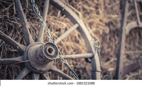 Old Spokes Of Trolley Cart