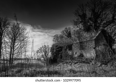 Old Spooky House in the Northern Ireland countryside