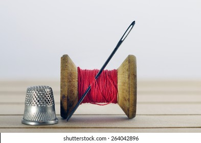 Old Fashion Sewing Cottons Needles