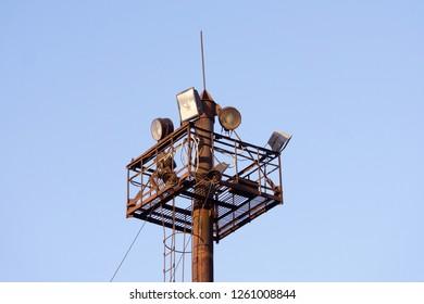 Image Teleradio Tower Blue Sky Background Stock Photo (Edit